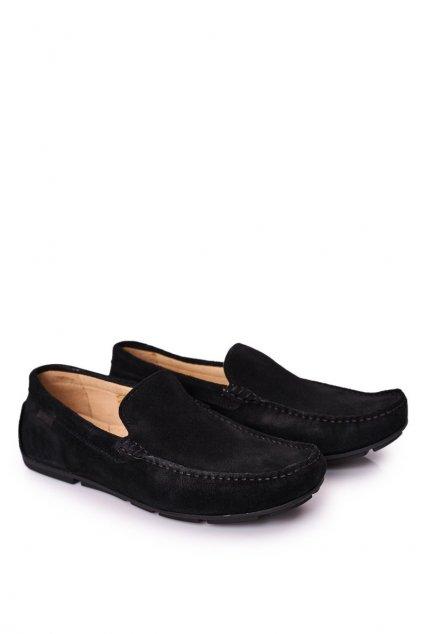 Pánske poltopánky farba čierna kód obuvi HH1N4080 BLACK
