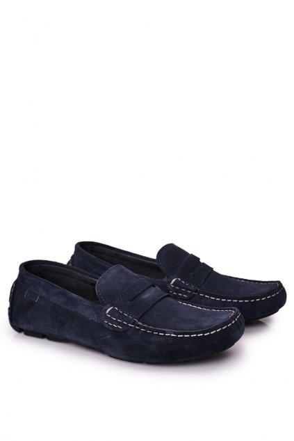 Pánske poltopánky farba modrá kód obuvi HH1N4065 DEEP BLUE