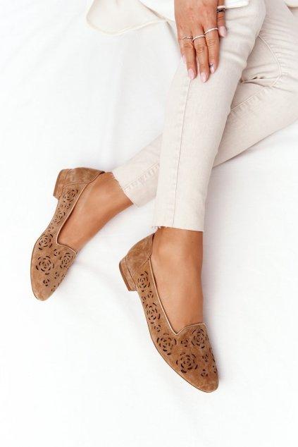 Dámske mokasíny farba hnedá kód obuvi BL 627 RUDY