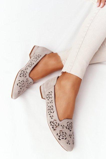 Dámske mokasíny farba hnedá kód obuvi BL 627 COFFE
