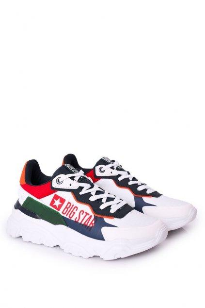 Biela obuv kód topánok HH174208 WHITE/NAVY/GREEN