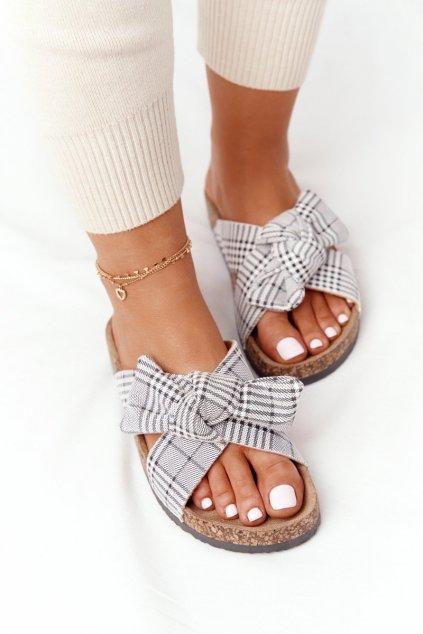 Dámske šľapky farba sivá kód obuvi 20-30105 GREY