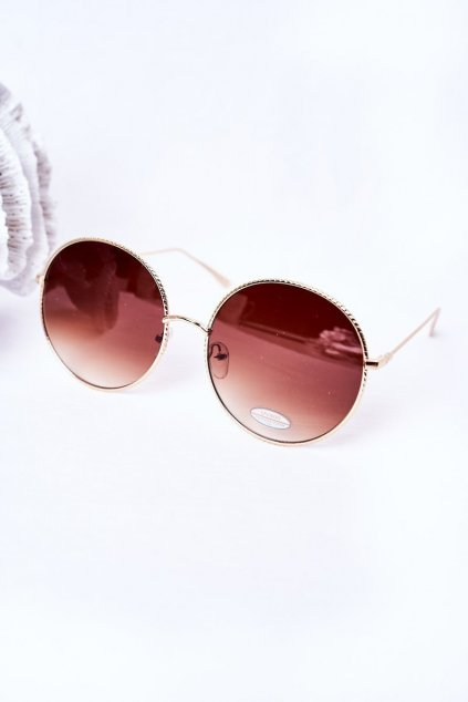 Módne slnečné okuliare LOOKS STYLE hnedé LOOKS001 BROWN