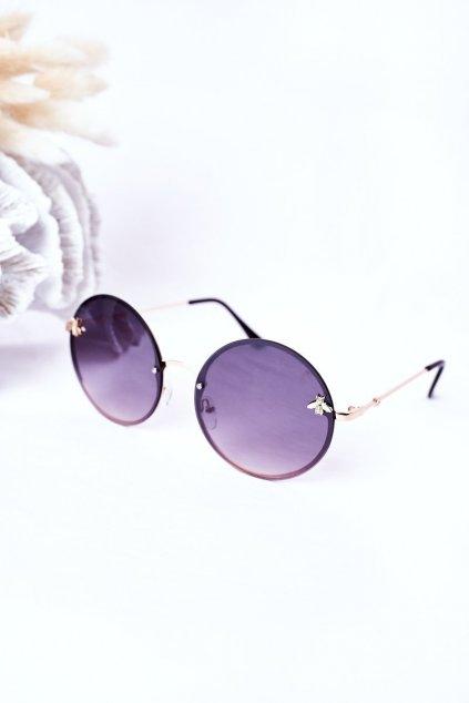 Módne slnečné okuliare VINSENT tmavohnedé VINSENT005 DARK BROWN