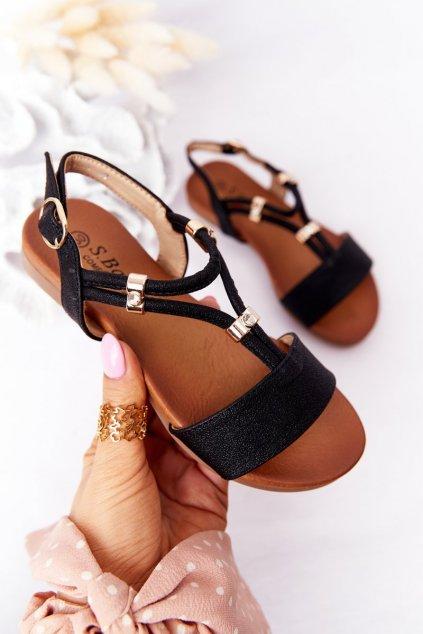 Detské sandále farba čierna kód obuvi 5541-5 BLACK
