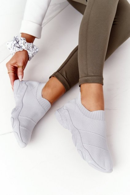 Dámske tenisky farba sivá kód obuvi NB399 GREY