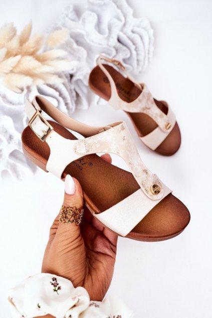 Detské sandále farba hnedá kód obuvi 541-C8 GOLD