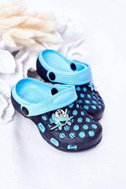 Detské šľapky farba modrá kód obuvi GY1008D-2 NAVY/BLUE