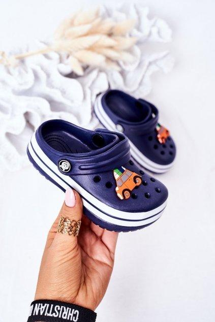 Detské šľapky farba modrá kód obuvi 8843CC NAVY