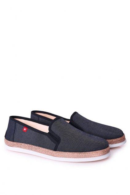 Pánske poltopánky farba modrá kód obuvi HH176002 NAVY