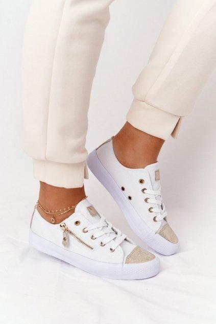 Dámske tenisky farba biela kód obuvi DD8227-2A WHITE/GOLD