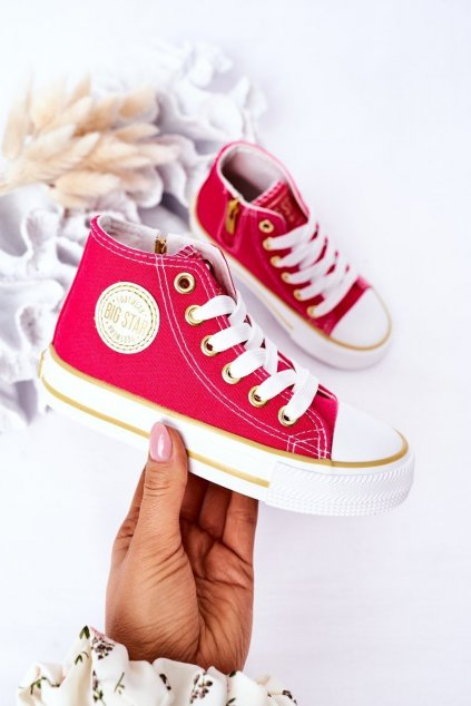Detské tenisky farba ružová kód obuvi HH374137 PINK