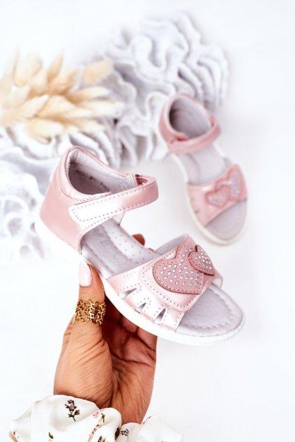 Detské sandále farba ružová kód obuvi 21DZ23-3902 PINK