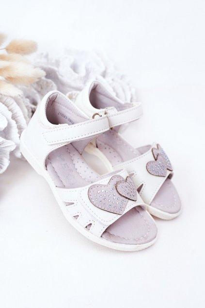 Detské sandále farba biela kód obuvi 21DZ23-3902 WHITE