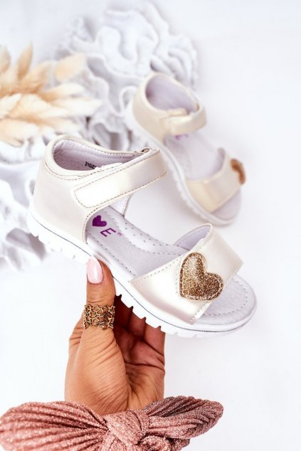 Detské sandále farba žltá kód obuvi 21DZ23-3910 BEIGE