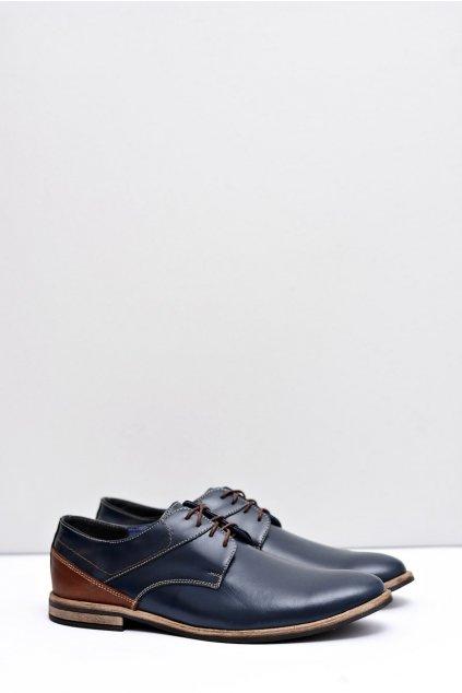 Pánske poltopánky farba modrá kód obuvi 415 NAVY