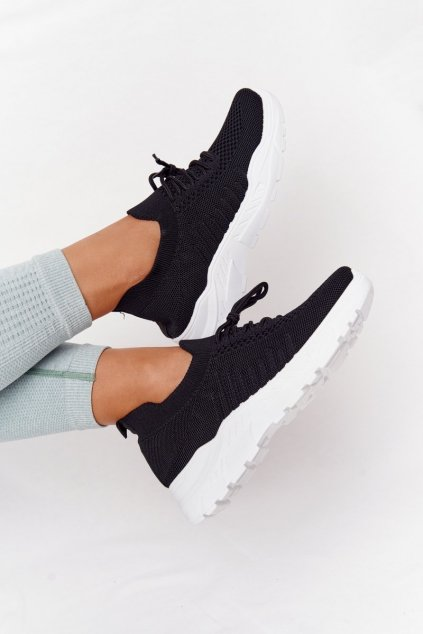 Dámske tenisky farba čierna kód obuvi LA171 BLACK
