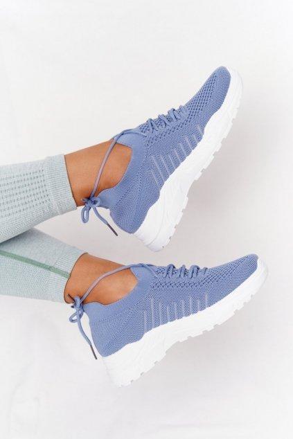 Dámske tenisky farba biela kód obuvi LA171 BLUE