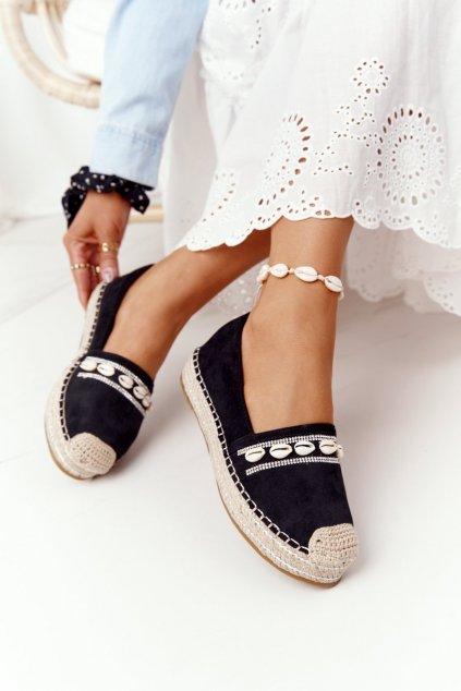 Dámske tenisky farba čierna kód obuvi 6771 BLACK