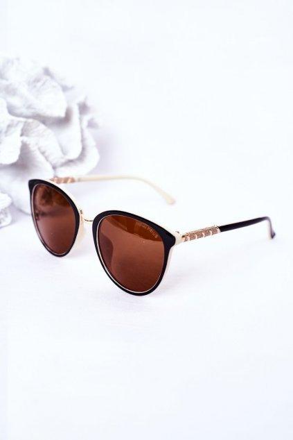Módne slnečné okuliare hnedé Polarized PRIUS PRIUS002 BEIGE/BROWN