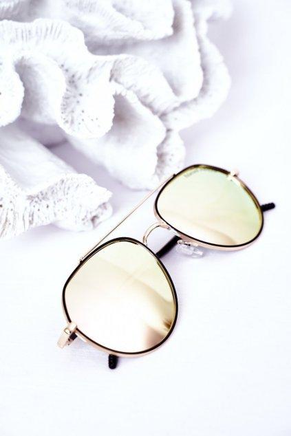 Módne slnečné okuliare ružovo/žlté Polarized PRIUS PRIUS003 PINK/YELLOW