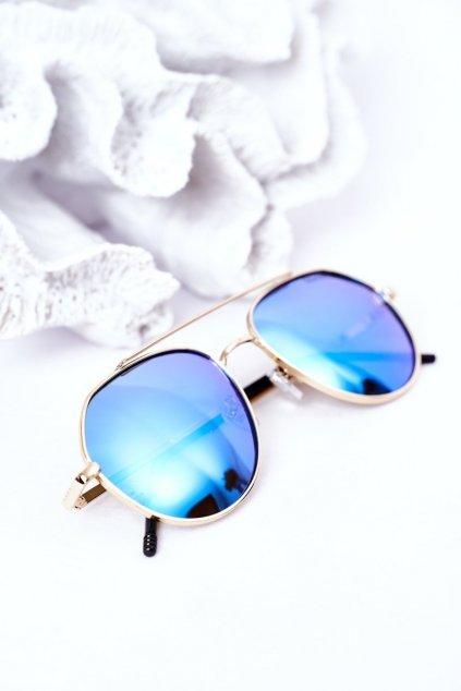 Módne slnečné okuliare zlato-modré Polarized PRIUS PRIUS003 GOLD/BLUE