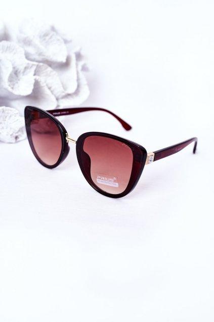 Módne slnečné okuliare hnedé PRIUS Eyewear PRIUS005 BROWN