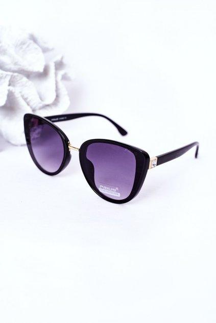 Módne slnečné okuliare čierne PRIUS Eyewear PRIUS005 BLK