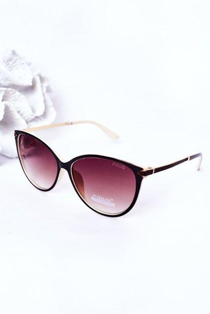 Módne slnečné okuliare hnedé PRIUS Eyewear PRIUS006 BEIGE/BROWN