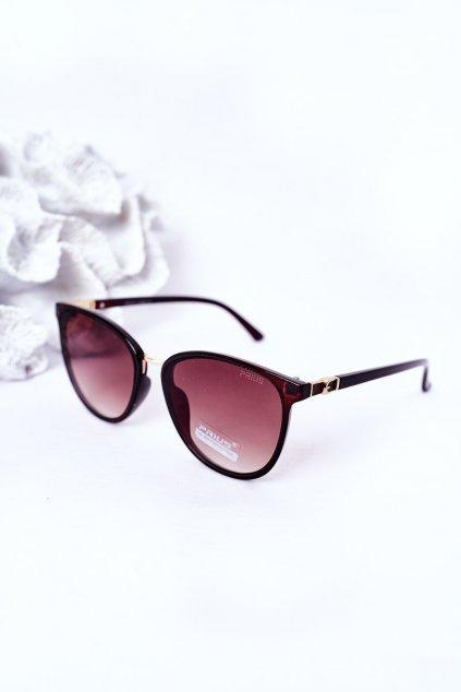 Módne slnečné okuliare hnedé PRIUS Eyewear PRIUS007 BROWN