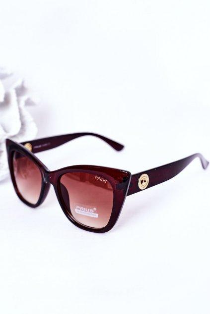 Slnečné okuliare PRIUS Eyewear hnedé  PRIUS008 BROWN