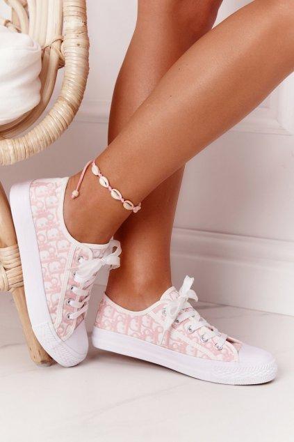 Dámske tenisky farba ružová kód obuvi XL30 PINK