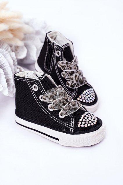 Detské tenisky farba čierna kód obuvi 873-A BLACK