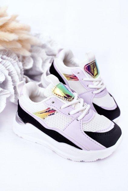 Detské tenisky farba čierna kód obuvi 894-D BLK/PURPLE