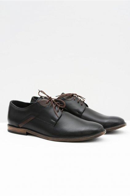 Pánske poltopánky farba čierna kód obuvi 404 BLK / BROWN