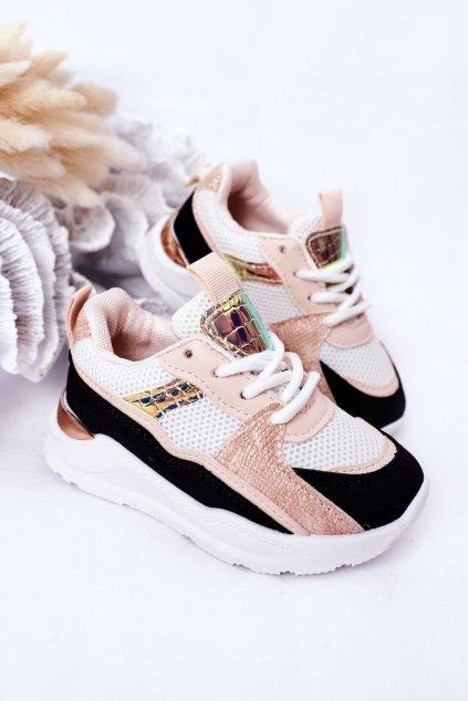 Detské tenisky farba čierna kód obuvi 894-A BLK/PINK