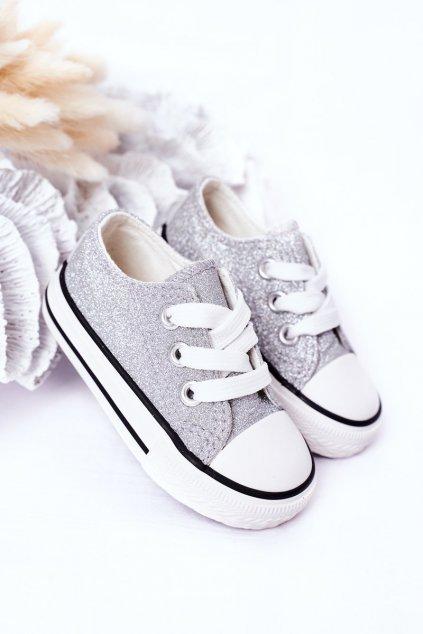 Detské tenisky farba sivá kód obuvi 888-B SILVER