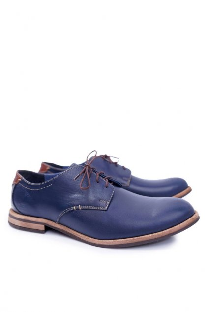 Pánske poltopánky farba modrá kód obuvi 336 NAVY