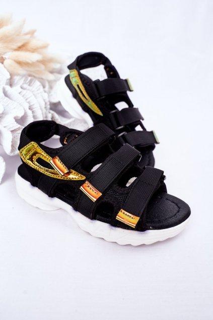 Detské sandále farba čierna kód obuvi 1716-3 BLACK