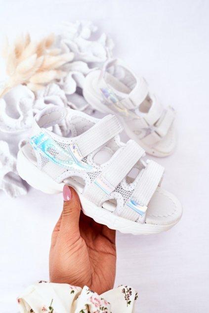 Detské sandále farba biela kód obuvi 1716-3 WHITE