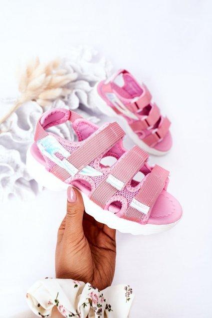Detské sandále farba ružová kód obuvi 1716-3 PINK
