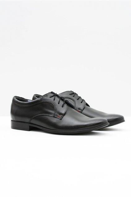 Pánske poltopánky farba čierna kód obuvi 343 BLK