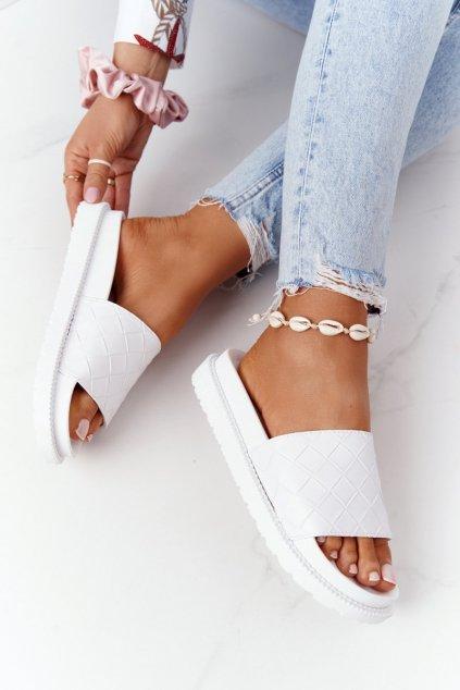 Dámske šľapky farba biela kód obuvi HH274683 WHITE
