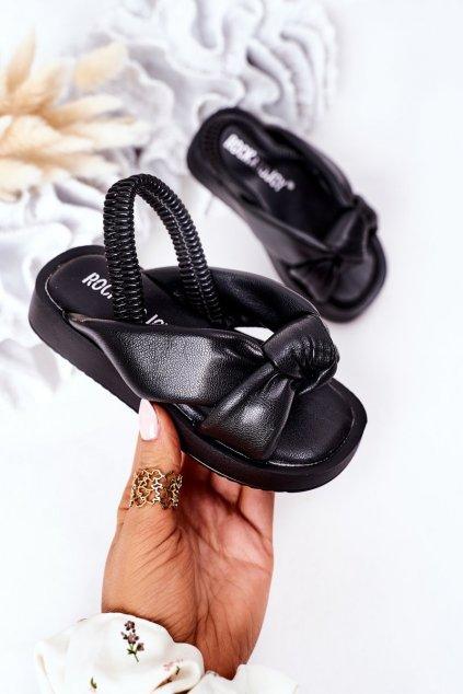 Detské sandále farba čierna kód obuvi 287-A BLACK