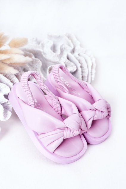 Detské sandále farba fialová kód obuvi 287-B PURPLE