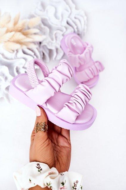 Detské sandále farba fialová kód obuvi 284-B PURPLE