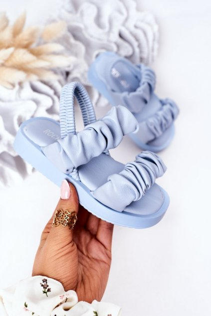 Detské sandále farba modrá kód obuvi 284-D BLUE