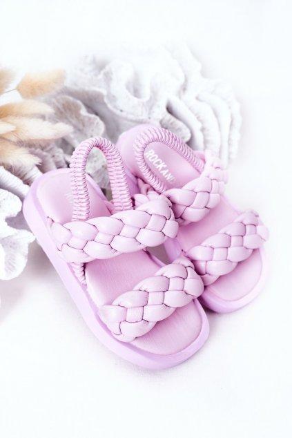 Detské sandále farba fialová kód obuvi 285-B 286-B PURPLE