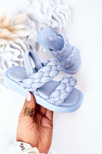 Detské sandále farba modrá kód obuvi 285-D 286-D BLUE