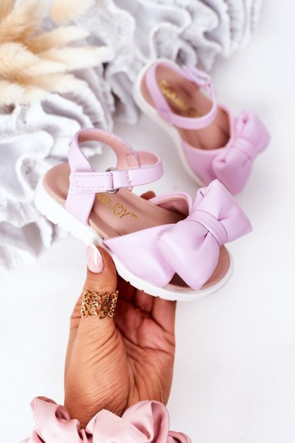 Detské sandále farba fialová kód obuvi 278-B PURPLE